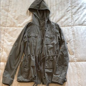 NWT! Gray utility style jacket!!